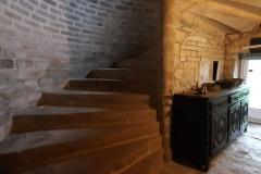 L'escalier de pierre en colimaçon