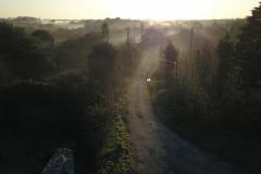La route de Keranflec'h le matin