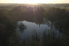 L'étang du manoir le matin